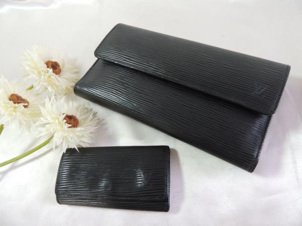 ヴィトン/エピ ポルトトレゾール財布 4連キーケース/2点