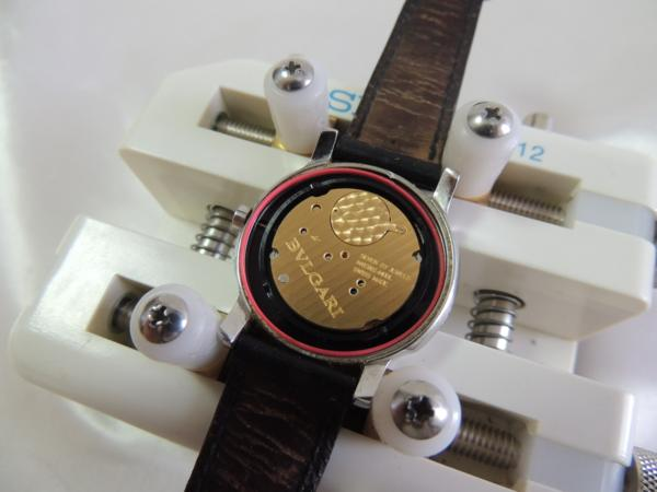 BVLGARI ブルガリ ソロテンポST35S レザーベルト腕時計