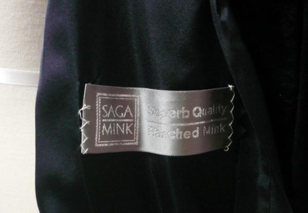 SAGA サガミンク Ranched MINK コート ダークブラウン 毛皮