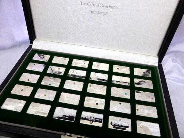フランクリンミント 宝石インゴット公式コレクション 30枚
