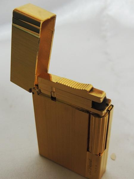 S.T.Dupont デュポン ライター ゴールド ヘアライン ジャンク品