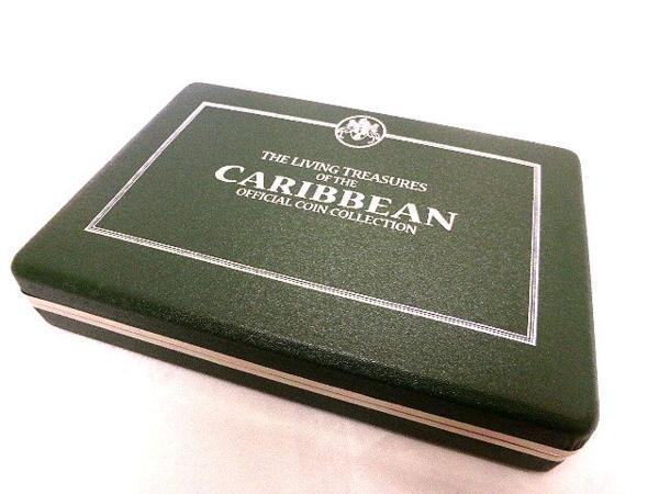 フランクリンミント カリブ海の生きた宝石 カラープルーフ 銀貨 7枚セット