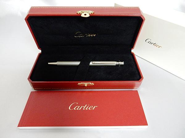 Cartier サントス ドゥ カルティエ ボールペン 銀 箱付 中古