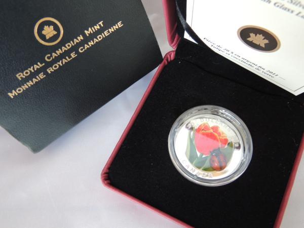 カナダ銀貨 2011年 20ドル テントウムシ/チューリップ
