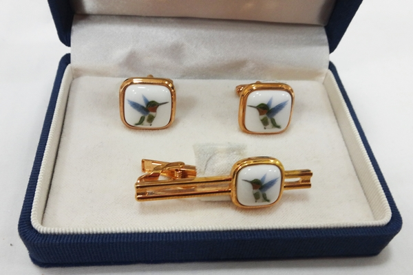 大倉陶園 OKURA タイピン&カフス&ブローチ 高級 美品